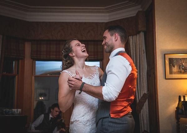 Wedding Couple's first dance at Alladale Wilderness reserve