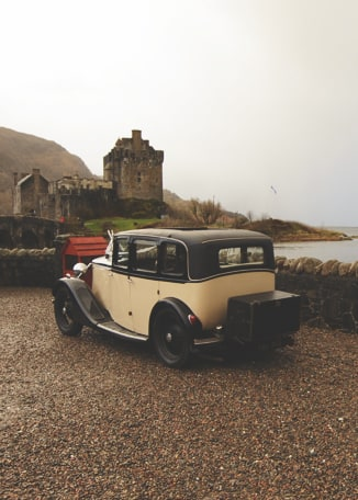 Eilean Donan Castle Wedding Car