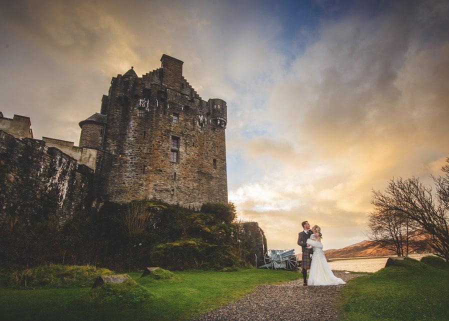Eilean Donan Castle Wedding Couple