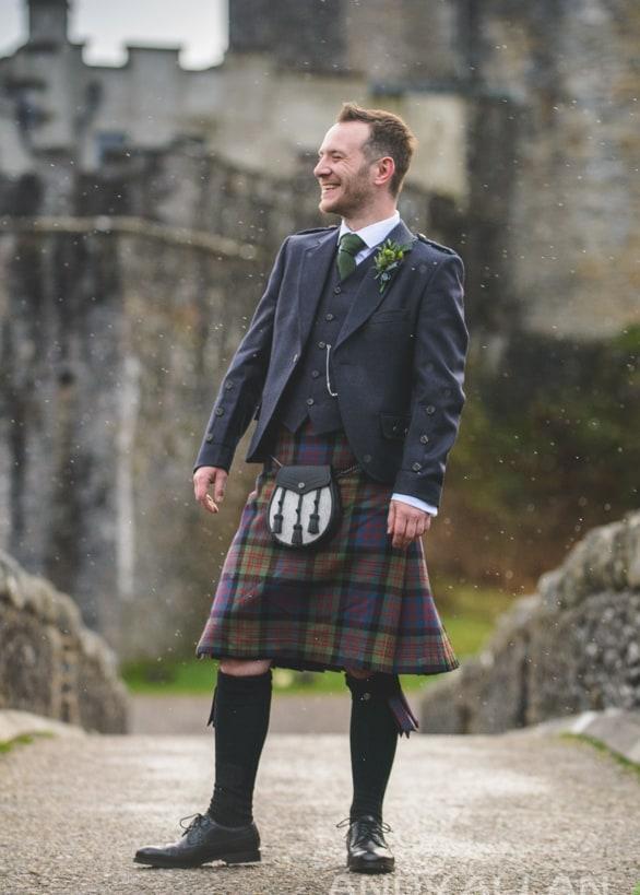 Eilean Donan Castle Wedding Groom