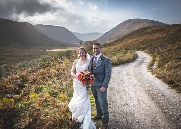 Eilean Donan Castle Wedding Groom Posing1