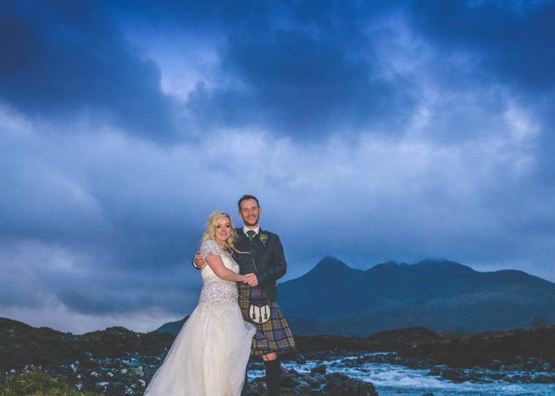 Eilean Donan Castle Wedding Car on Bridge